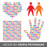 Set of vector people icons Stock Photography