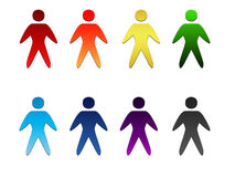 Set of Vector People Icons. Set  of  colorful vector  people  icons  you Royalty Free Stock Photography