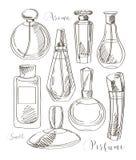 Set of vector perfume fashion Stock Image