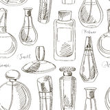 Set of vector perfume fashion pattern Stock Photography