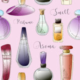 Set of vector perfume fashion pattern Royalty Free Stock Images