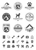 Set of vector pet logo, icons and design elements Stock Photography