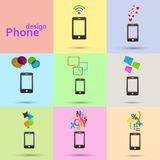 Set of vector phones icons Royalty Free Stock Photo