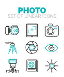 Set of vector photography icons Stock Photos