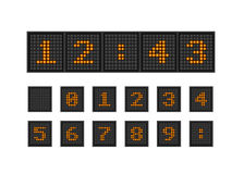 Set vector pixel numbers of lighting bulb Stock Images