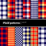 Set of vector plaid patterns. See also other sets. Royalty Free Stock Photo
