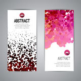 Set of Vector Poster Banners Templates with Dots. Watercolor simulation Paint Splash. Abstract Background for Business Documents, Flyers and Placards Royalty Free Stock Photo