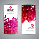Set of Vector Poster Banners Templates with Dots. Watercolor simulation Paint Splash. Abstract Background for Business Documents, Flyers and Placards Royalty Free Stock Image