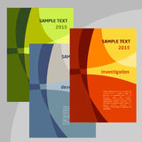 Set of Vector Poster Templates A4. Abstract. Background for Business Documents Stock Image