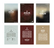 Set of vector poster templates Stock Photo