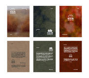 Set of vector poster templates Royalty Free Stock Photo