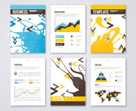 Set of Vector Poster Templates with Paint Splash Royalty Free Stock Photography