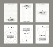 Set of vector poster templates Stock Photos