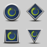 Set of vector power buttons Stock Images