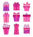Set of vector present boxes Royalty Free Stock Image