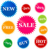 Set of vector price tags Royalty Free Stock Photos
