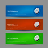 Set vector progress designer banners Royalty Free Stock Image