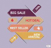 A set of vector promo banners decorated Stock Image