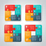 Set of vector puzzle infographic templates. Stock Photography