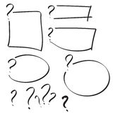 Set of vector question mark Royalty Free Stock Image