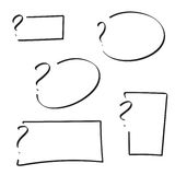 Set of vector question mark Stock Photo