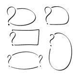 Set of vector question mark Stock Photography