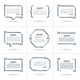 Set of vector quote templates isolated on white background Stock Photo