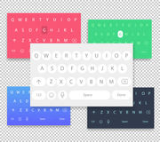 Set of vector qwerty mobile keyboards. Vector keys. Royalty Free Stock Photography