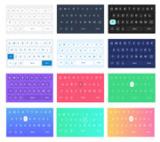 Set of vector qwerty mobile keyboards. Vector keys. Set of vector QWERTY mobile keyboards for smart phone designs. Set of vector keyboards for the user Royalty Free Stock Photo