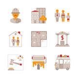 Set of vector real estate icons and concepts in flat style Stock Photography