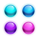 Set of vector Realistic Bubbles Royalty Free Stock Photos