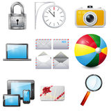 Set 14 vector realistic icons Stock Photos