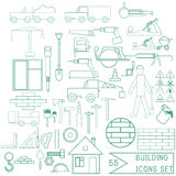 Set of vector repair and building icons for design Royalty Free Stock Photo