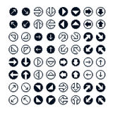 Set of vector retro cursor signs made in pixel art style. Simpli Royalty Free Stock Images