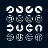 Set of vector retro cursor signs made in pixel art style. Simpli Royalty Free Stock Image