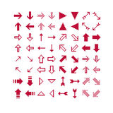 Set of vector retro cursor signs made in pixel art style.  Royalty Free Stock Image