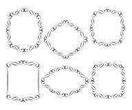 Set  vector retro frames .Vector illustration.Black  white. Set  vector retro frames .Vector illustration.Black on white Royalty Free Stock Photo