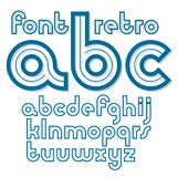 Set of vector retro old lower case English alphabet letters, can. Be used for logo creation Royalty Free Stock Photography