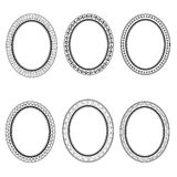 Set of vector retro oval frame Stock Photography