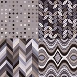 Set of Vector Retro Seamless Abstract Wavy Backgrounds Stock Images