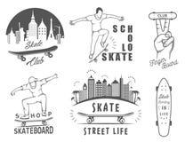 Set Vector Retro Skateboarding Logo and Badge Stock Photo