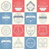 Set Vector Retro Skateboarding Logo and Badge Stock Photography
