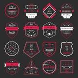 Set Vector Retro Skateboarding Logo and Badge Royalty Free Stock Images