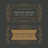 Set of vector retro style decorative flourish frames. Stock Images