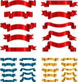 Set of vector ribbons Stock Images