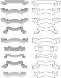 Set of vector ribbons Royalty Free Stock Image