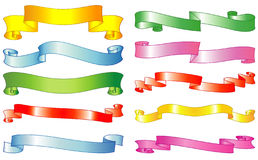 Set of vector ribbons Royalty Free Stock Image