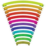 Set of vector ribbons of different colors Stock Photos