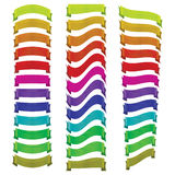 Set of vector ribbons of different colors Royalty Free Stock Photos