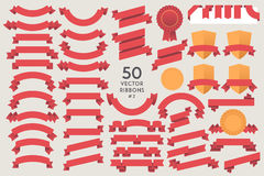 Set of 50 vector Ribbons Royalty Free Stock Images